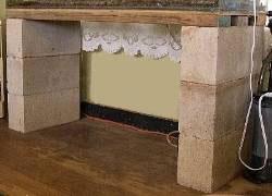 cinder block DIY stand