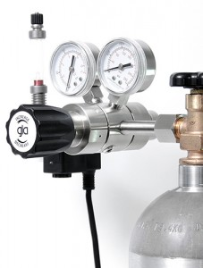 dual stage co2 regulator