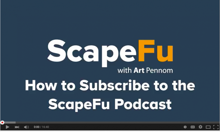 Subscribe to the ScapeFu Podcast